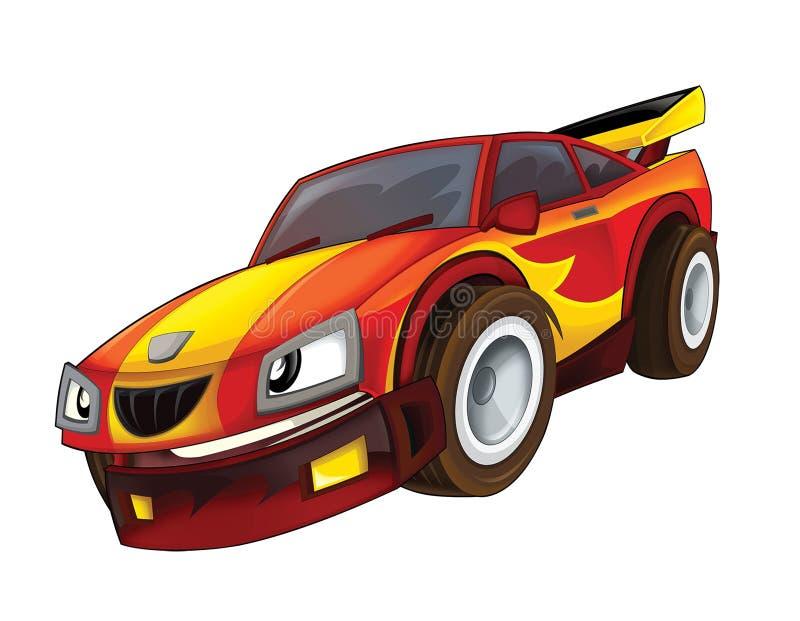 Il fumetto digiuna automobilistico illustrazione vettoriale