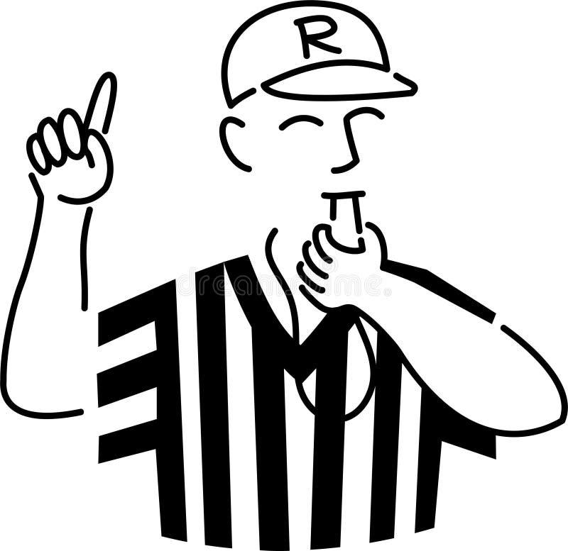 Il fumetto mette in mostra l'arbitro illustrazione vettoriale