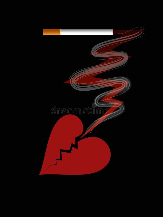 Il fumo è pericoloso alla vostra salute illustrazione vettoriale