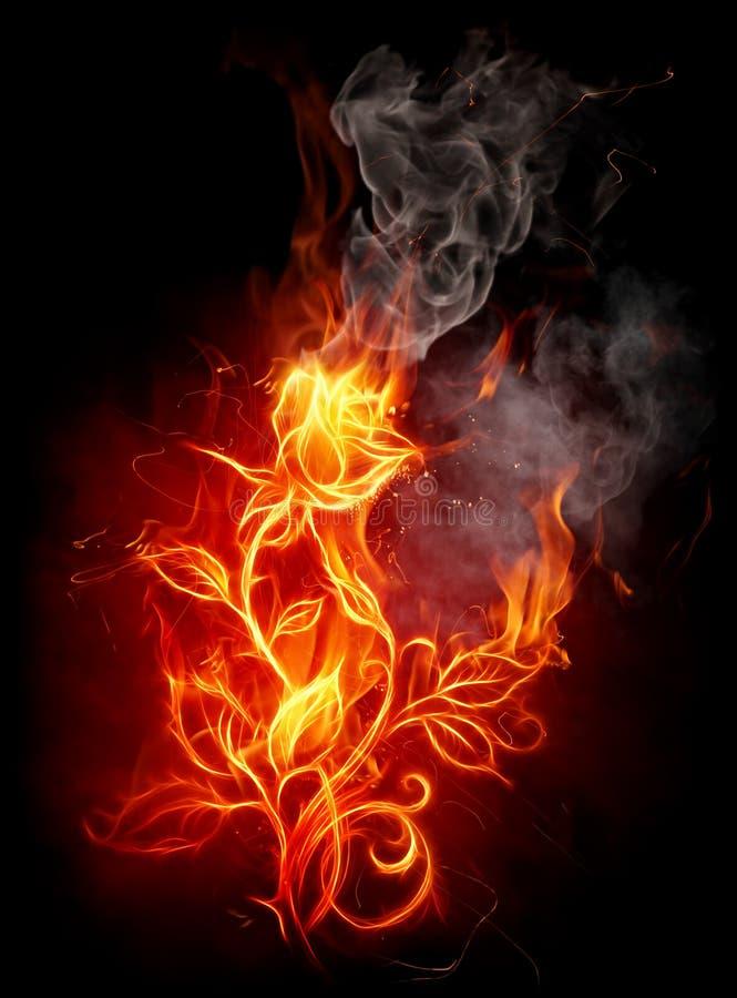 Il fuoco è aumentato royalty illustrazione gratis