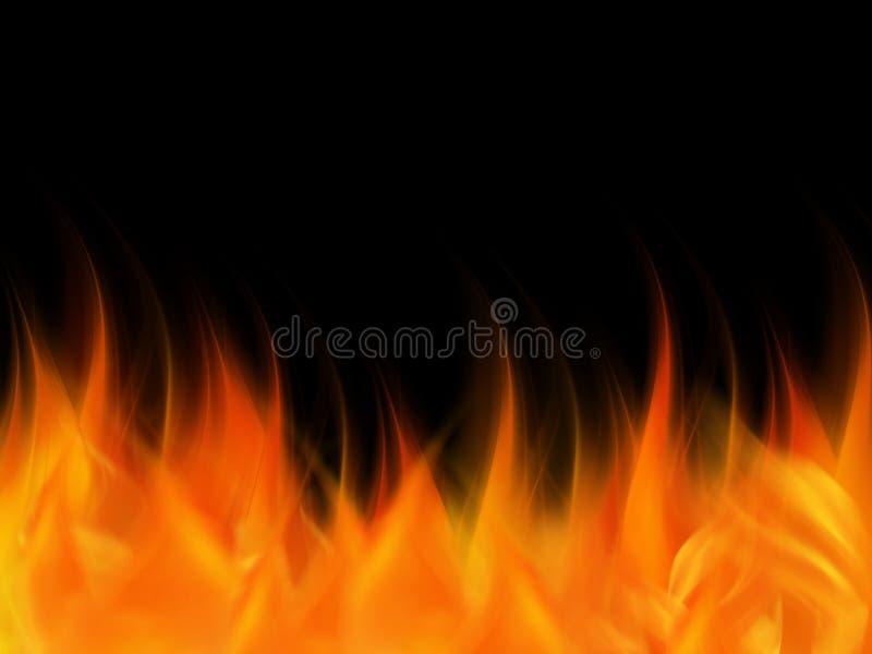 Il fuoco astratto fiammeggia elegante variopinto su fondo astratto illustrazione di stock