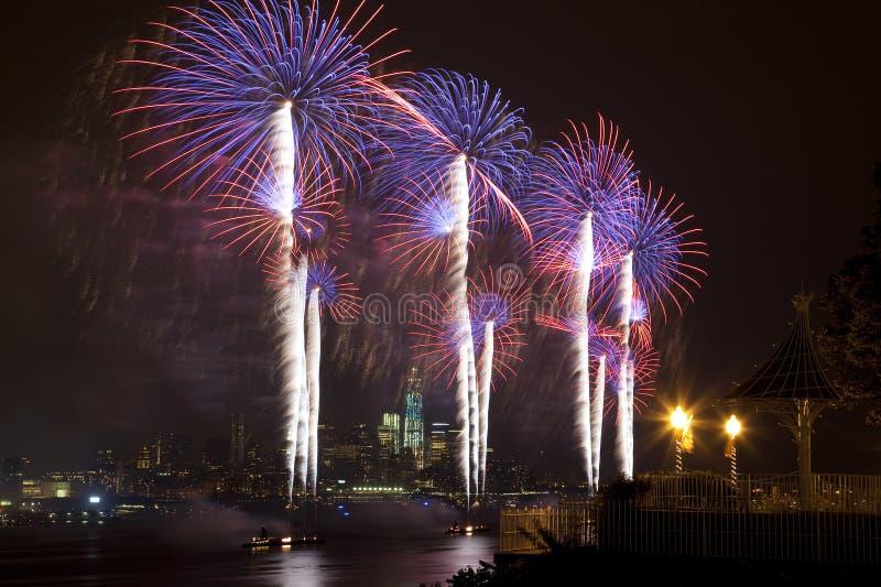 Il fuoco d'artificio del 4 luglio del Macy fotografia stock libera da diritti