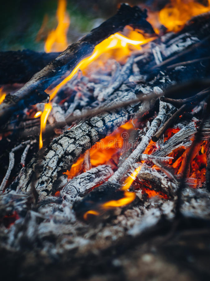 Il fuoco di morte fotografie stock libere da diritti