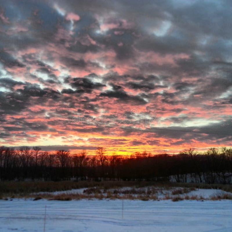 Il fuoco ed il ghiaccio dell'inverno fotografia stock