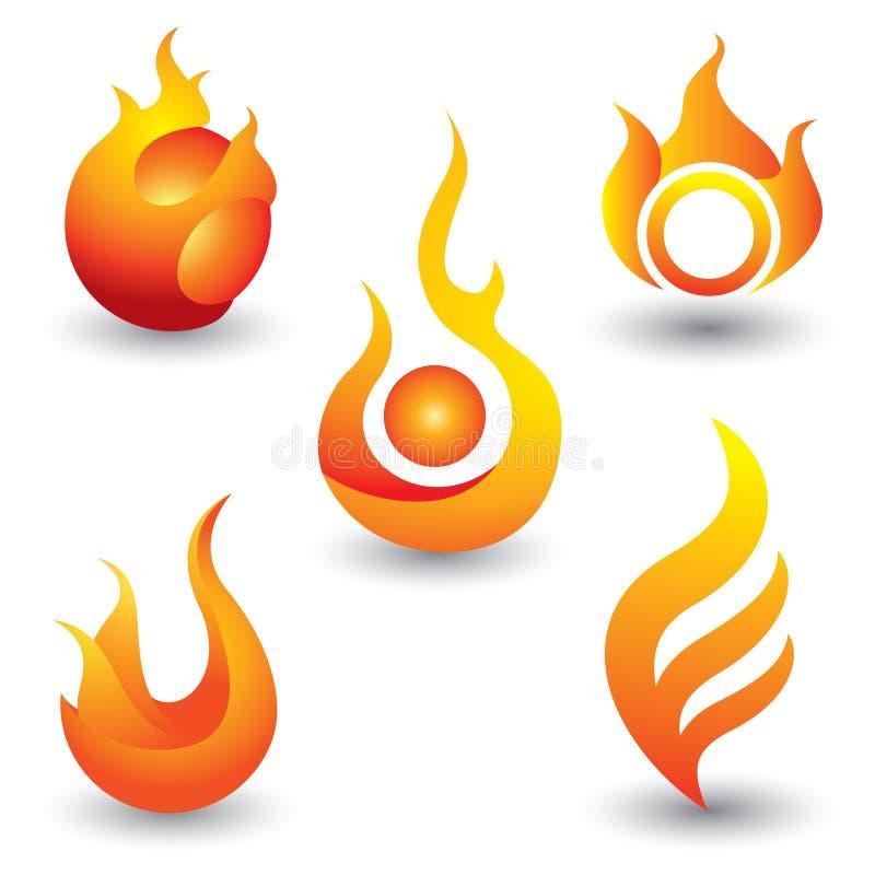 Il fuoco fiammeggia l'icona di simbolo royalty illustrazione gratis