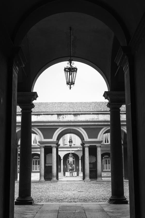 Il futuro dell'università di Pavia fotografia stock
