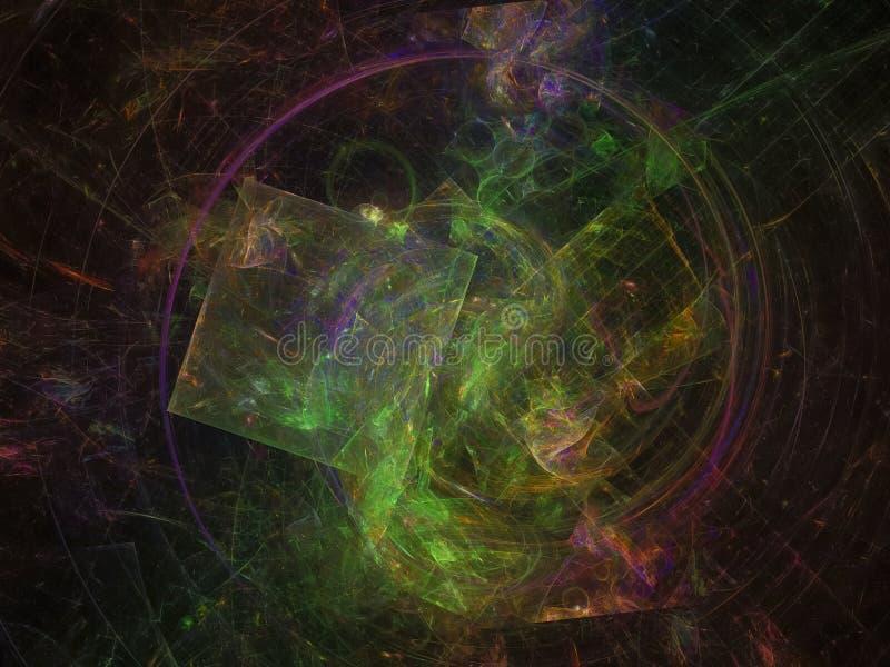 Il futuro digitale astratto della realtà del fondo di frattale ha scoppiato la progettazione moderna, l'energia, il grafico, fant illustrazione vettoriale