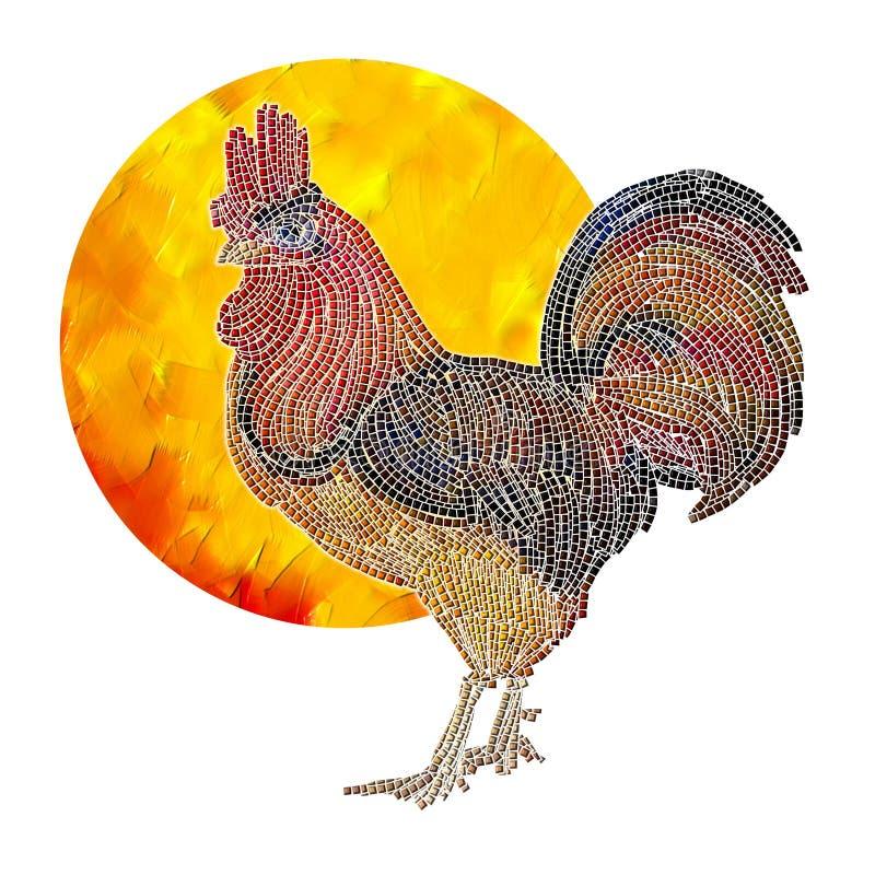 Il gallo ed il sole fotografia stock libera da diritti