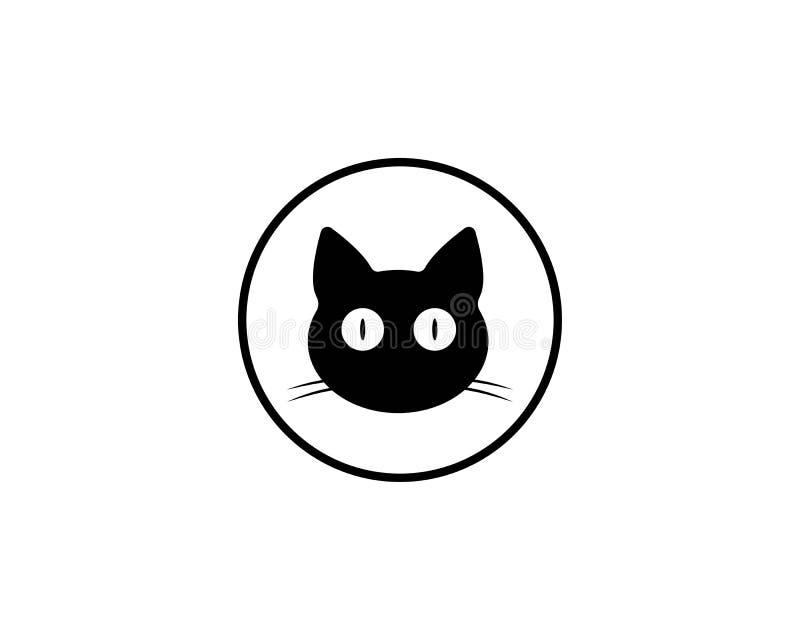 Il gatto cresce animale sveglio dell'icona dell'animale domestico illustrazione di stock