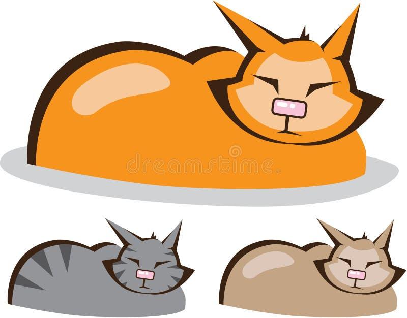 Il gatto di sonno colora il vettore royalty illustrazione gratis
