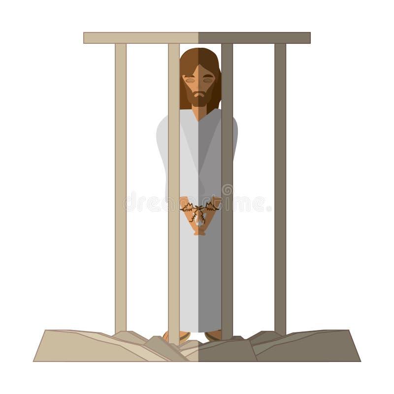il Gesù Cristo ha condannato la morte - via l'ombra di crucis royalty illustrazione gratis