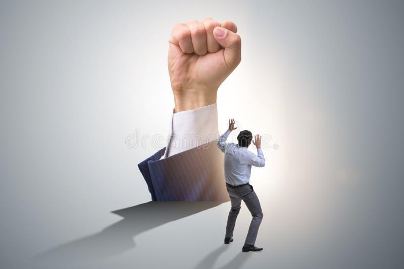 Il gesto del pugno nel concetto di affari immagini stock libere da diritti