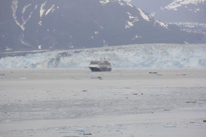 Il ghiacciaio di Hubbard, Alsaka, giugno, U.S.A. fotografia stock libera da diritti