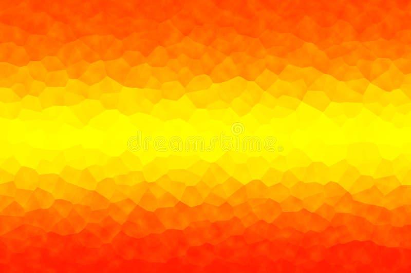Il giallo arancio astratto con cristallizza l'effetto, usa come i precedenti di un elemento royalty illustrazione gratis
