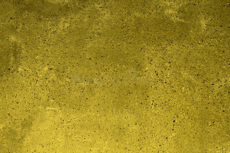 Il giallo ha macchiato il gesso sporco sulla struttura del blocco - fondo astratto fantastico della foto immagini stock libere da diritti