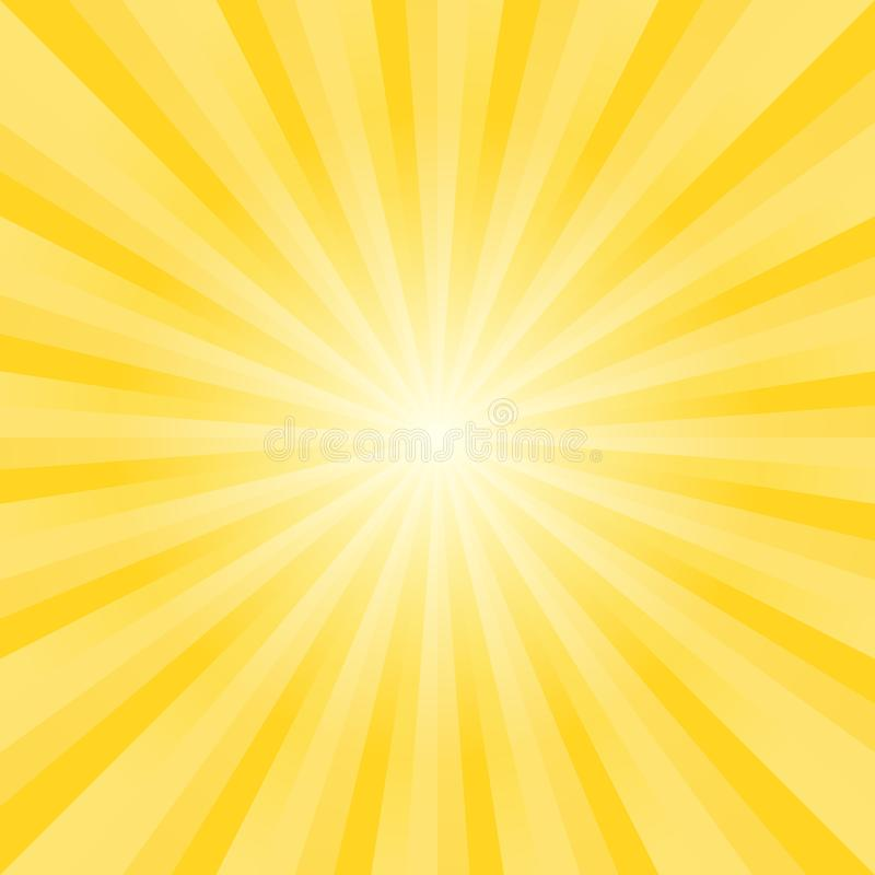 Il giallo luminoso morbido astratto rays il fondo Vettore immagine stock libera da diritti