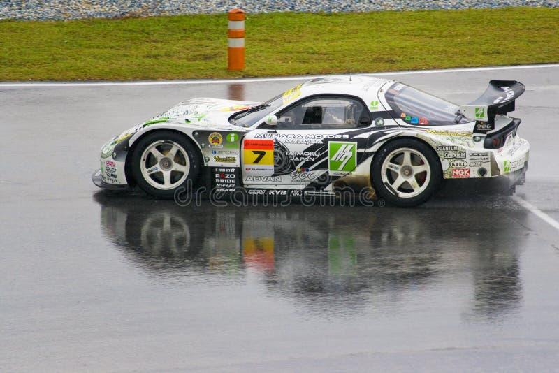 Il Giappone GT eccellente 2009 - squadra M7 CON RIFERIMENTO alla corsa di Amemiya fotografia stock libera da diritti