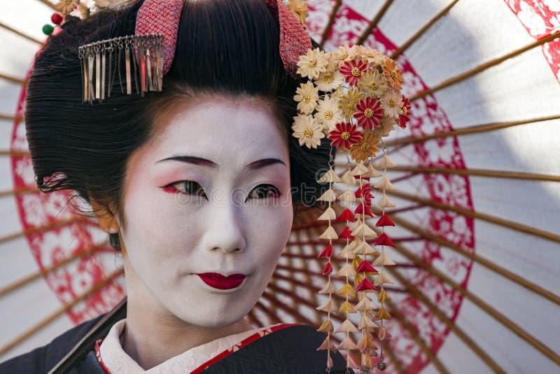 Il Giappone - Kyoto - la vicinanza e la geisha di Gion fotografie stock libere da diritti