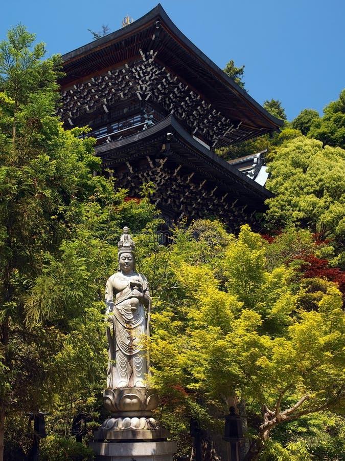 Il Giappone - Miyajima - santuario di Itsukushima fotografia stock libera da diritti