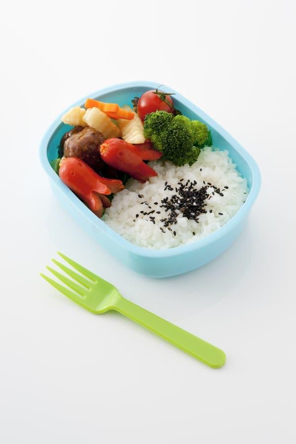 Il giapponese scherza la casella di pranzo fotografia stock