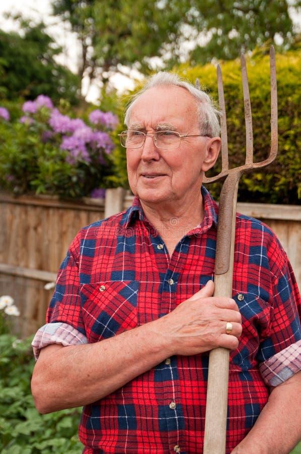 Il giardiniere fotografia stock