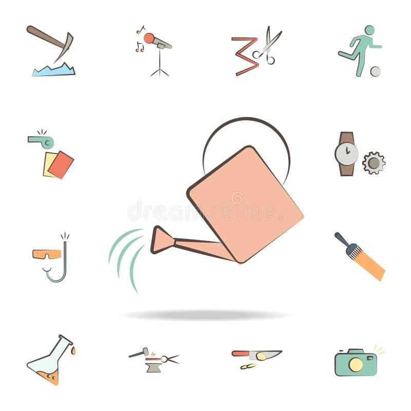 il giardiniere foggia l'icona Insieme dettagliato degli strumenti di varie icone di professione Progettazione grafica premio Una  illustrazione di stock