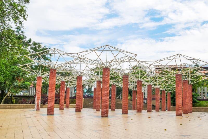 Il giardino del lago Permaisuri è uno del parco famoso in Cheras immagine stock libera da diritti