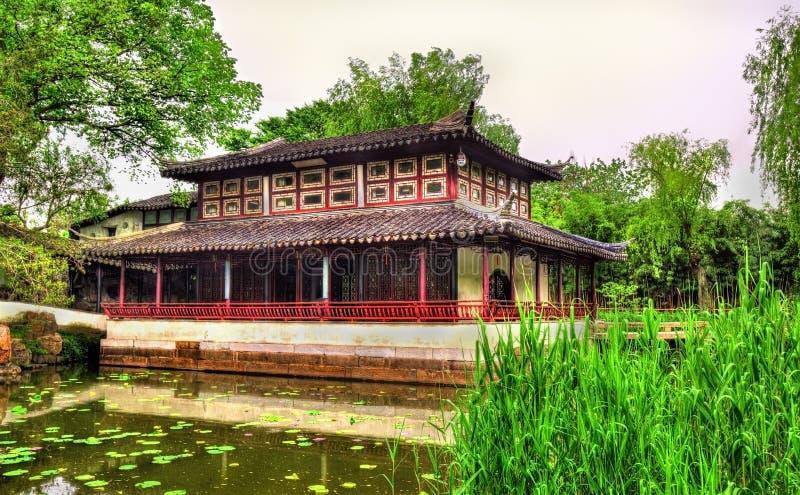 Il giardino dell'amministratore umile, il più grande giardino a Suzhou fotografia stock libera da diritti