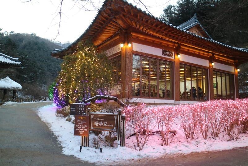 Il giardino di calma Seoul di mattina immagini stock