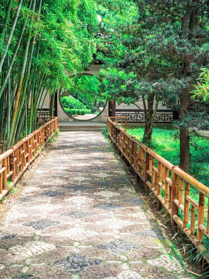 Il giardino prolungato, un giardino cinese classico rinomato, riconosciuto come sito del patrimonio mondiale dell'Unesco a Suzhou immagine stock libera da diritti