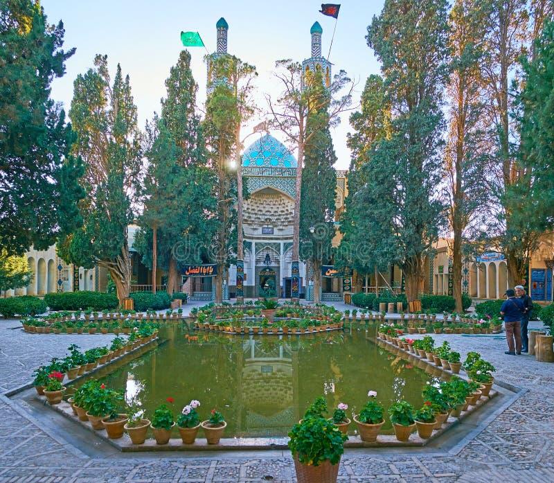 Il giardino in scià Nematollah Vali Shrine, Mahan, Iran immagini stock libere da diritti