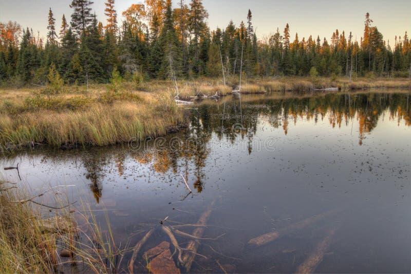 Il gigante addormentato è un grande parco provinciale sul lago Superiore a nord di Thunder Bay in Ontario immagini stock libere da diritti