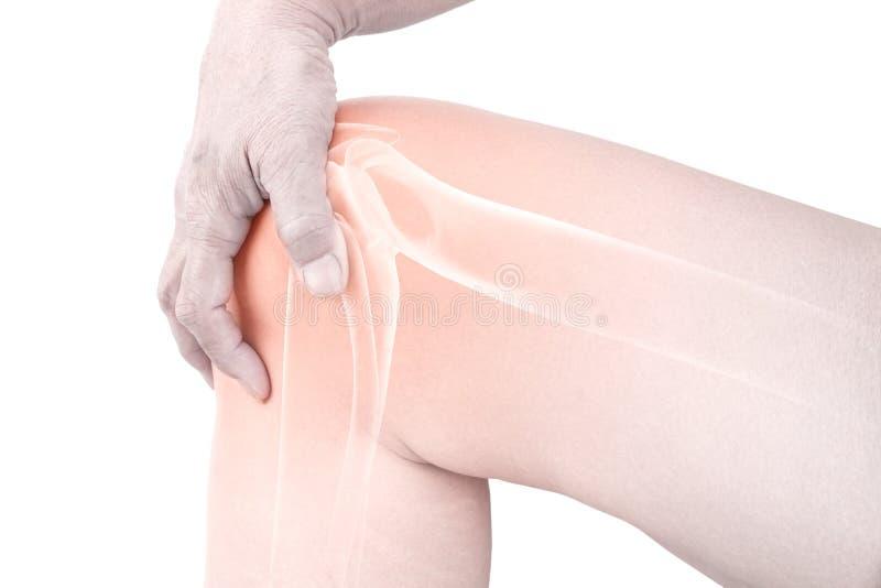 Il ginocchio disossa la lesione immagine stock