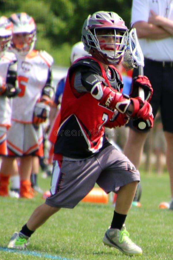 Il giocatore di lacrosse fotografie stock