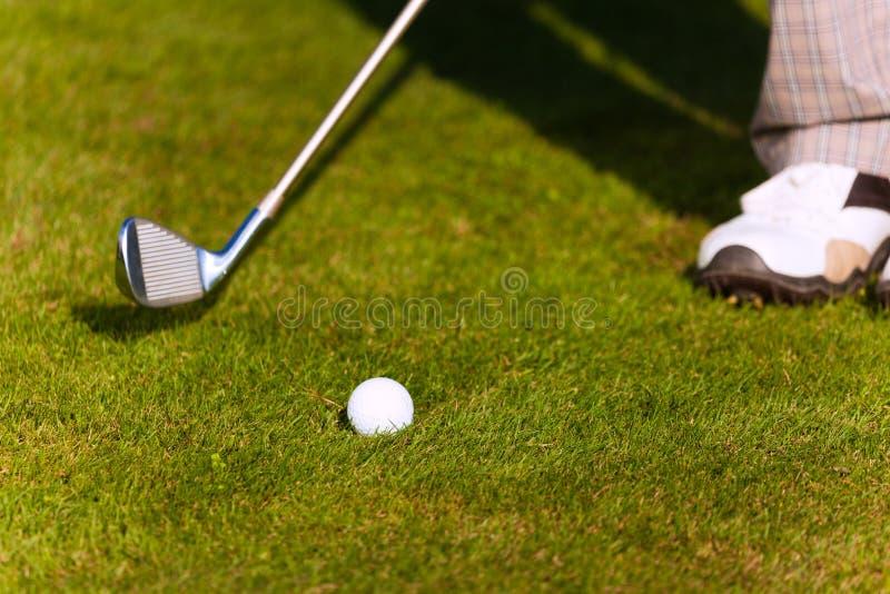 Il gioco del â di golf ha colpito la sfera fotografie stock libere da diritti