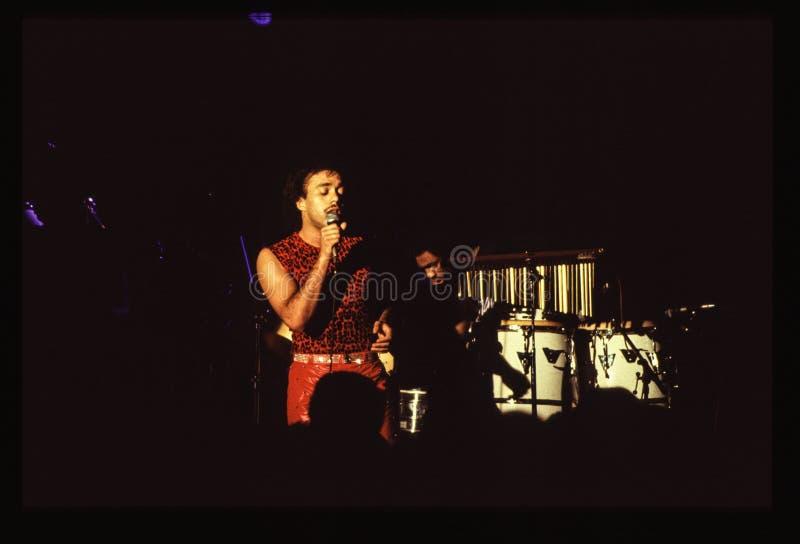 Il gioco della banda di Shalamar vive nell'inizio degli anni 80 del Regno Unito alla fine del 1970 s immagine stock libera da diritti