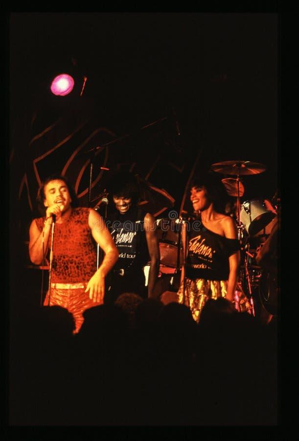 Il gioco della banda di Shalamar vive nell'inizio degli anni 80 del Regno Unito alla fine del 1970 s fotografie stock