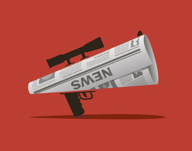 Il giornale - assassinio informativo illustrazione di stock