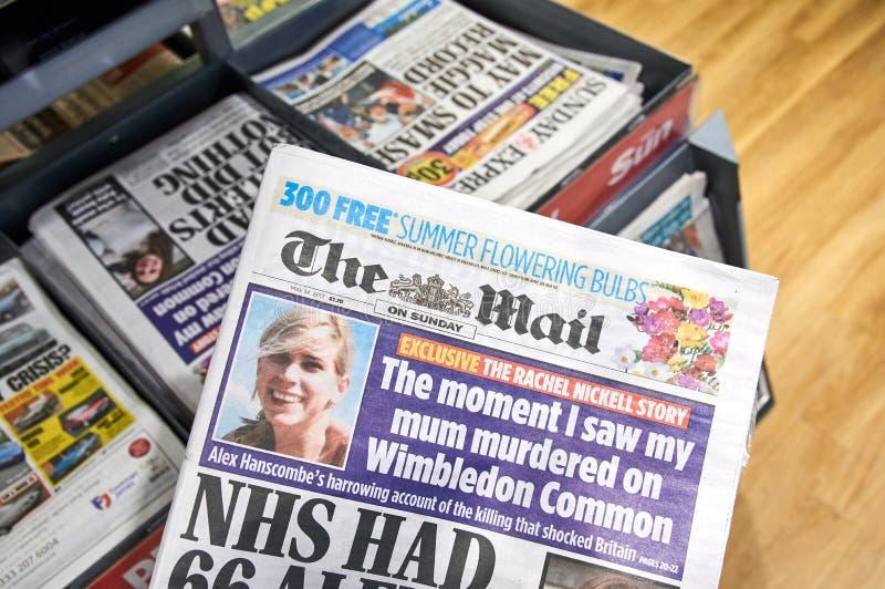 Il giornale di Daily Mail fotografie stock libere da diritti
