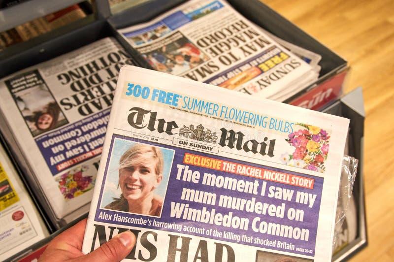 Il giornale di Daily Mail immagine stock
