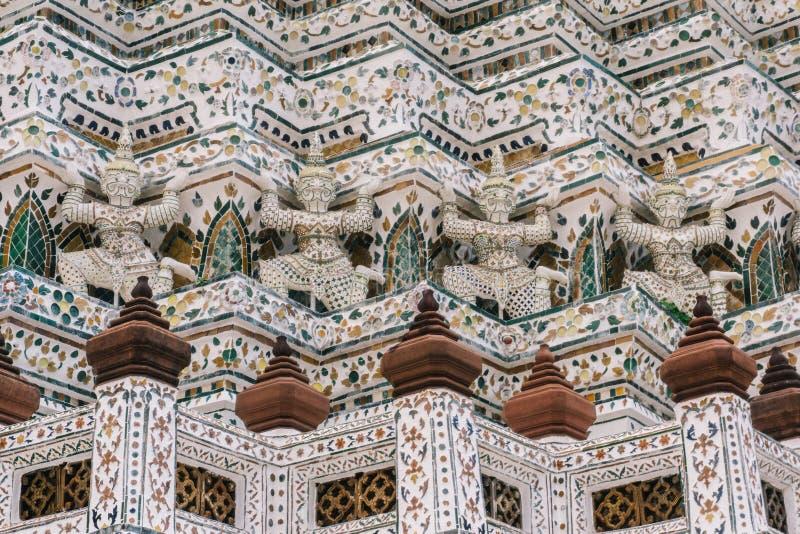 Il giorno a Bangkok, la Tailandia, Wat Arun Temple immagini stock
