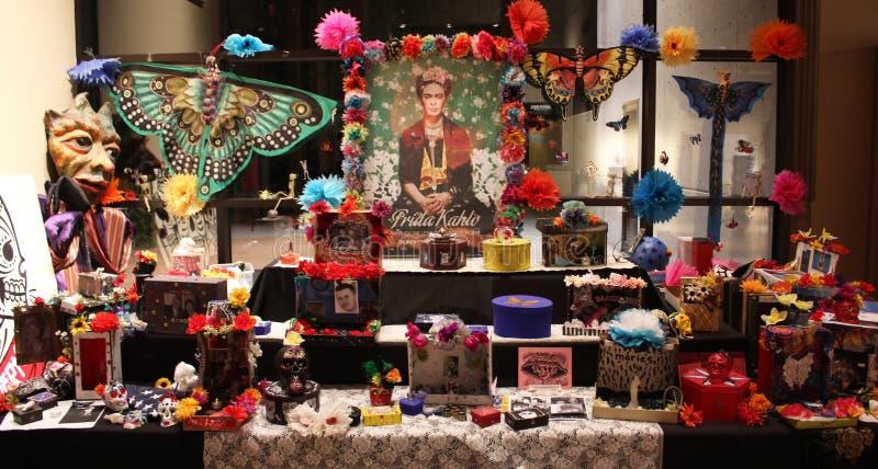 Il giorno dei morti altera Frida fotografia stock libera da diritti