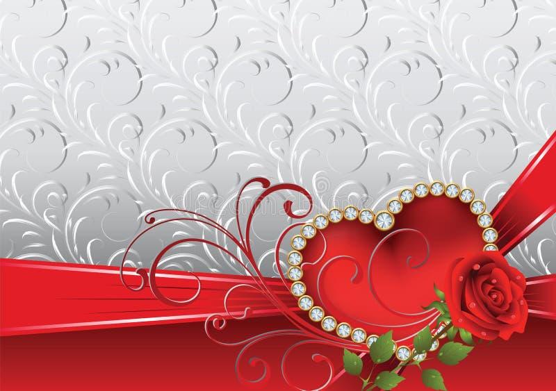 Il giorno del biglietto di S. Valentino illustrazione di stock