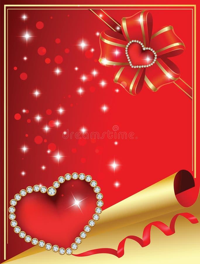 Il giorno del biglietto di S. Valentino royalty illustrazione gratis