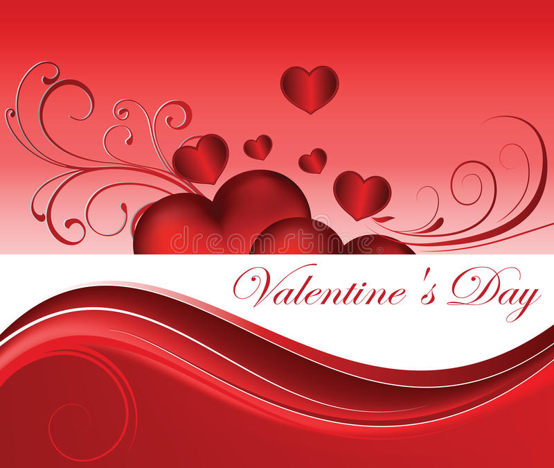 Il giorno del biglietto di S. Valentino illustrazione vettoriale