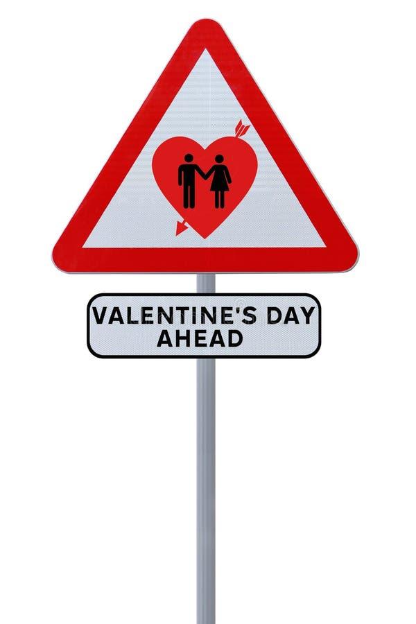 Il giorno del biglietto di S. Valentino avanti fotografia stock libera da diritti