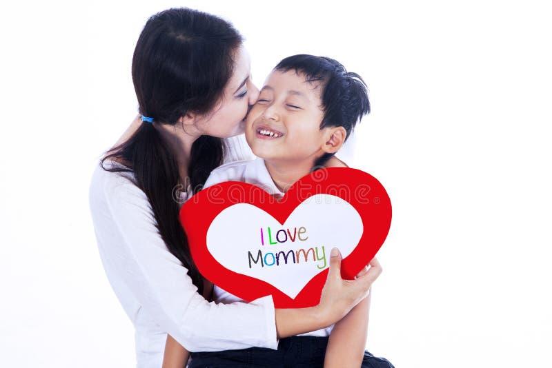 Il giorno della madre felice! immagine stock