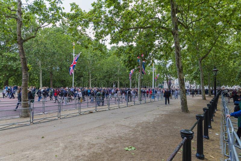 Il giorno della regina, l'8 giugno 2019 Londra Inghilterra immagine stock libera da diritti