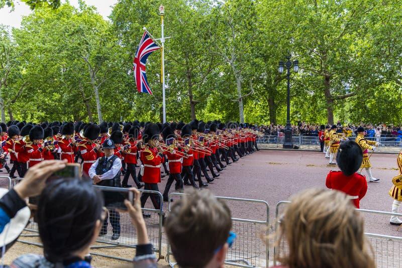 Il giorno della regina, l'8 giugno 2019 Londra Inghilterra fotografie stock libere da diritti