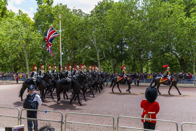 Il giorno della regina, l'8 giugno 2019 Londra Inghilterra fotografia stock libera da diritti